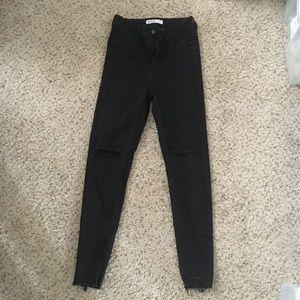 4 z1975 denim Zara black skinny high waisted pants